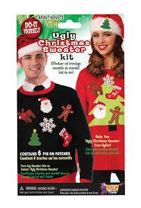 Klistermärken jultröja, gör din egna