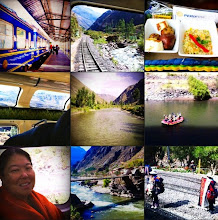 Photo: Collage.  Peru Rail trip through Ollantaytambo.