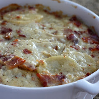 Scalloped Potatoes With Bacon.