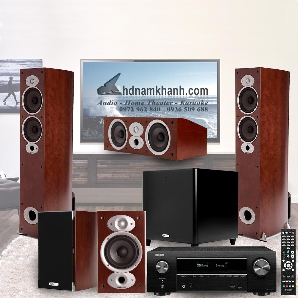 Amply Denon X1600H + Bộ Loa Polk Audio A5 rất sang trọng - 1