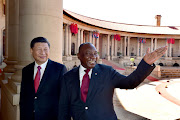 President Cyril Ramaphosa welcoming Chinese President Xi Jinping on a state visit to the Republic of South Africa on Tuesday.