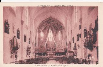 Photo: Orgueil Tarn-et-Garonne - Choeur de l'église Carte non voyagée, fait partie d'une collection de cartes sur le Tarn-et-Garonne illustré