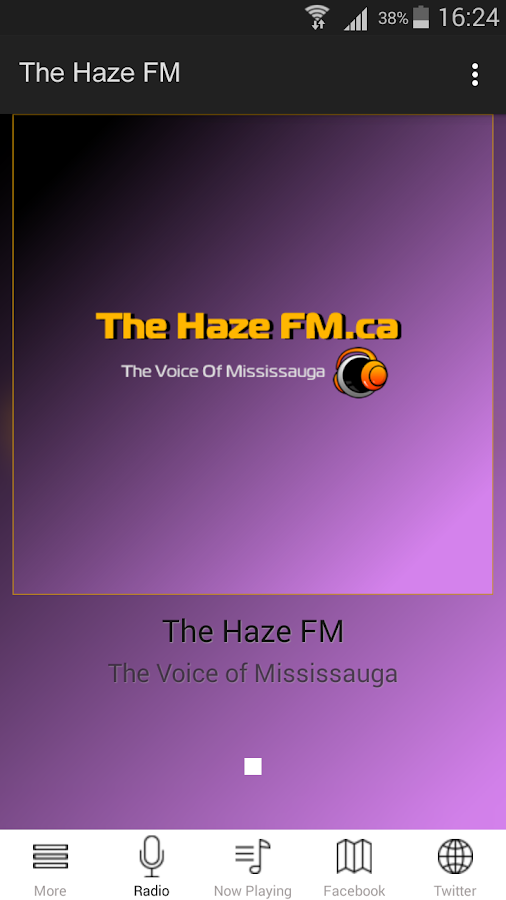 The HazeFM- screenshot
