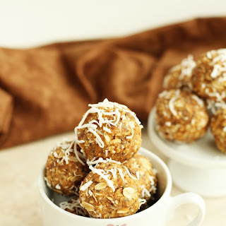 Peanut Butter Coconut Energy Balls.