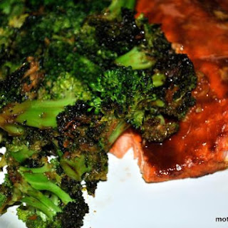 Sweet Hoisin Glazed Salmon and Broccoli