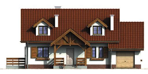 Dom przy Modrzewiowej 2 - Elewacja przednia