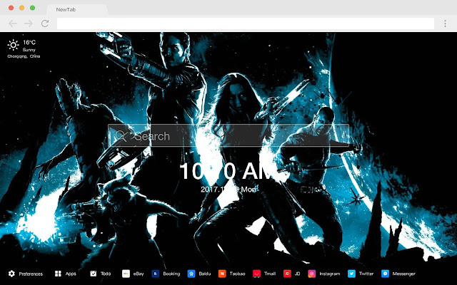 Drax The Destroyer Marvel New Tab HD Theme
