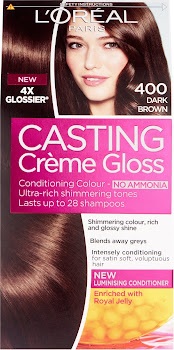 L'Oreal Paris Casting Creme Gloss Conditioning Colour - 400 Dark Brown