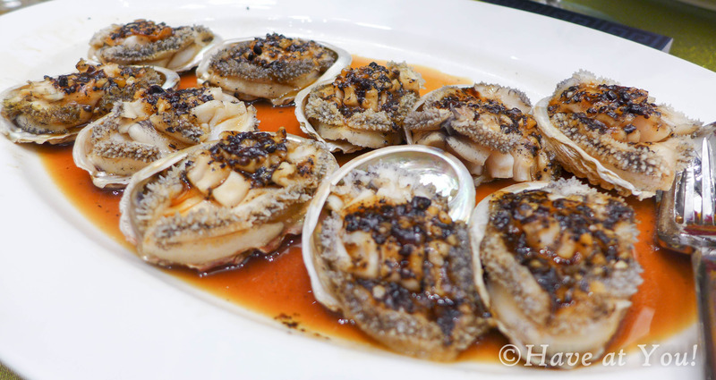 abalone in black bean sauce
