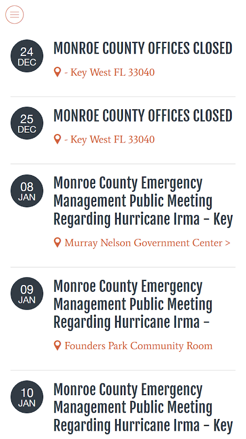 Monroe County FL- screenshot