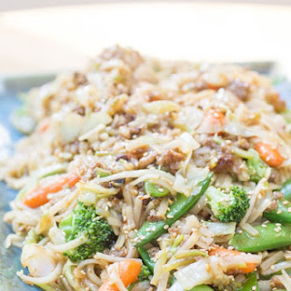 Sesame Vegetables with Rice Noodles.