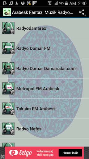 Arabesk Fantazi Müzik Radyolar