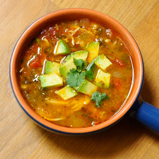Paleo Comfort Foods' Chicken Tortilla-less Soup