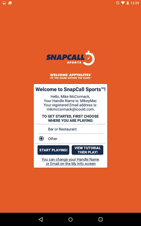 SnapCall Sports- screenshot