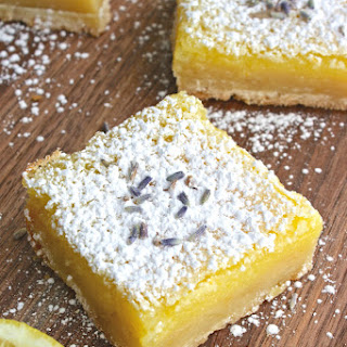 Lemon Squares with Lavender & Limoncello