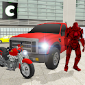 Moto Robot Transport Truck icon