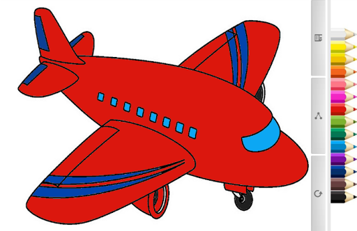 Coloring Book : Plane