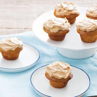 Maple Glazed Lentil Gingerbread Cupcakes