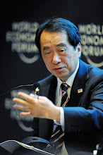 Photo: DAVOS/SWITZERLAND, 26JAN12 - Naoto Kan, Prime Minister of Japan (2010-2011) speaks during the session 'Complexity and Crisis: The Case of Japan' at the Annual Meeting 2012 of the World Economic Forum at the congress centre in Davos, Switzerland, January 26, 2012.Copyright by World Economic Forumswiss-image.ch/Photo by Michael Wuertenberg