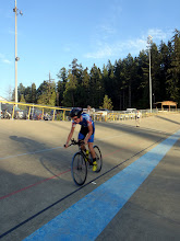 Photo: Joel Taylor from the Victoria Academy of Cycling posts the 2nd fastest 3km Pursuit time.