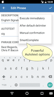 Autotext PhraseExpress- screenshot thumbnail