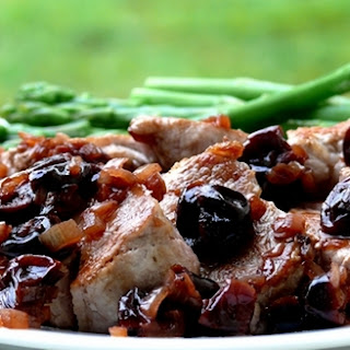 Pork Medallions with Pinot Noir-Cherry Pan Sauce