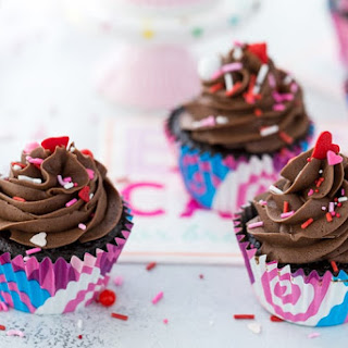 Chocolate Cupcake with Chocolate Buttercream Frosting.