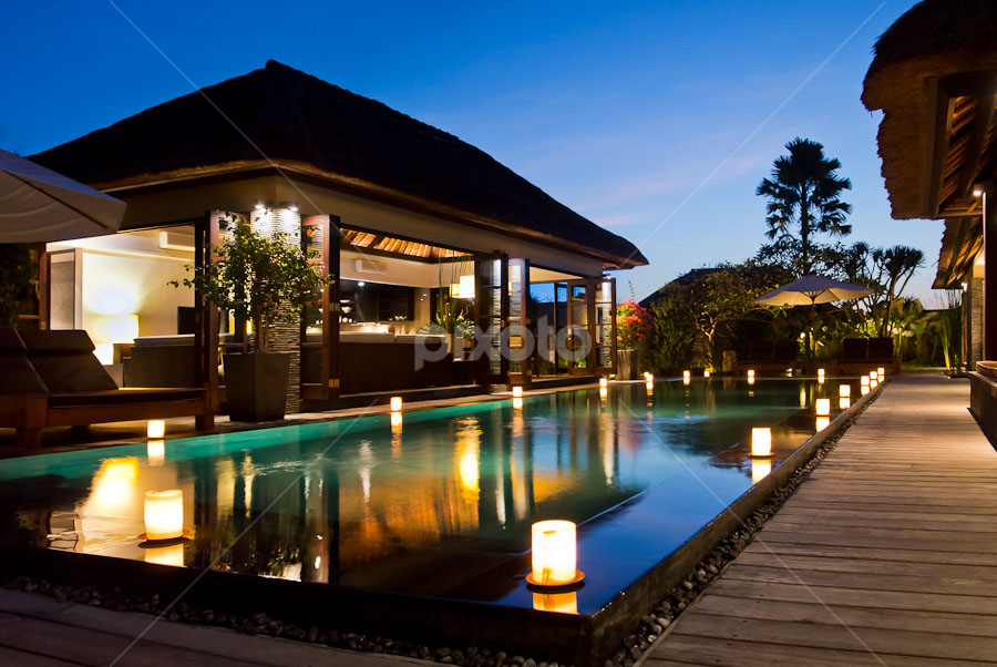 Bali Architectural Photography - Luxury Villas - Sentosa Private Villas and Spa by Rick Carmichael - Travel Locations Air Travel ( bali, indonesia, luxury villa, tropical, architecture, pools, exotic, photography )