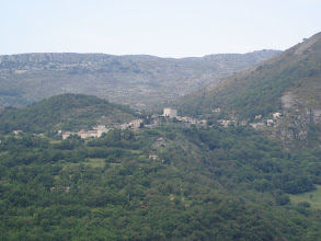 Photo: Perched village of Cipieres viewed from Greolieres