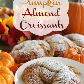 Pumpkin Almond Croissants