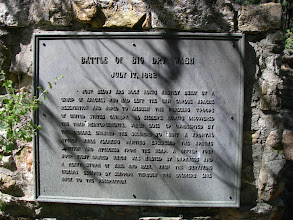 Photo: Monument plaque with battle narrative.