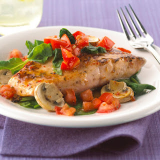 Salmon With Spinach And Tomatoes Recipes.