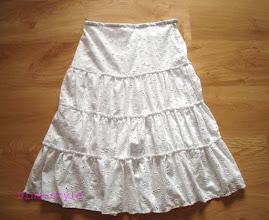 Photo: женская юбка ярусами из коттона с вышивкой