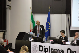 Photo: Punya durante il suo intervento, Technology And Teachers' Training: An American Perspective.