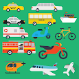 Vehicles - Learn, Spell, Quiz, Draw, Color & Games icon