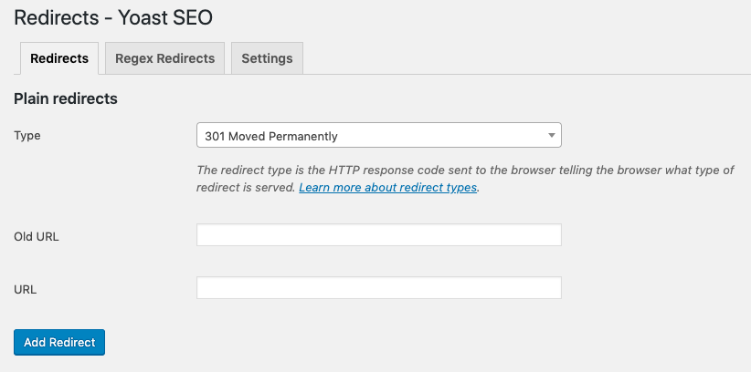 redirects in yoast seo premium