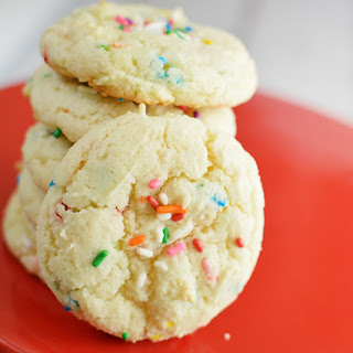 Almond Funfetti Boxed Cake Mix Cookies