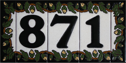 "Photo: House Numbers- Vine 3x6"" Numbers - 1.5x6"" Ends"