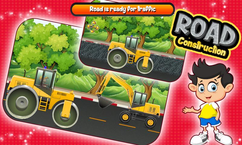 Road Construction Site Builder- screenshot
