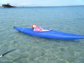 Photo: This Kayaking Lark is soooo easy dad!!!!