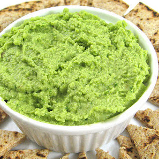 Fabulously Healthy, Edamame, Spinach and Garlic Hummus