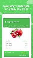 screenshot of My pregnancy calendar app: baby countdown timer