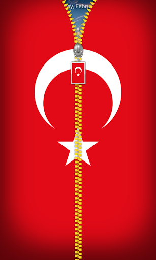 Turkey Flag Zipper Lockscreen