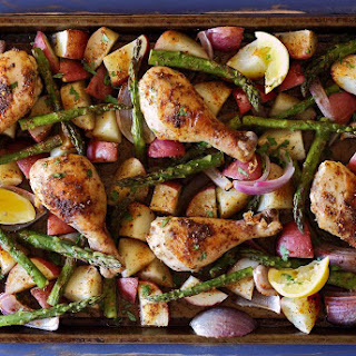 Easy Sheet Pan Roasted Chicken and Market Veggies