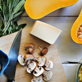Tortellini with Butternut Squash, Sage, and Mushrooms.