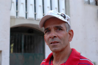 Photo: Sami Kadi, activist, at the housing estate Shem HaGdolim 6, Jaffa