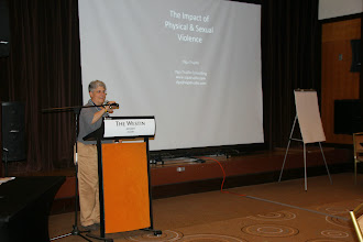 Photo: Olga Trujillo spoke on the The Impact of Physical and Sexual Violence.