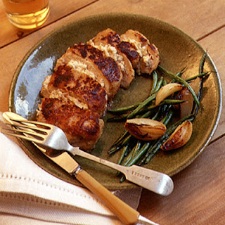 Chicken Breasts Stuffed with Apple and Goat Cheese.