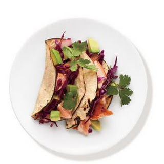 Salmon Tacos With Cabbage Slaw