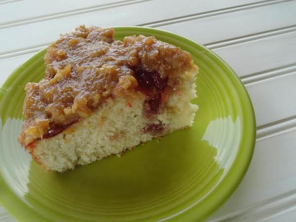 Peanut Butter & Jelly Poke Cake